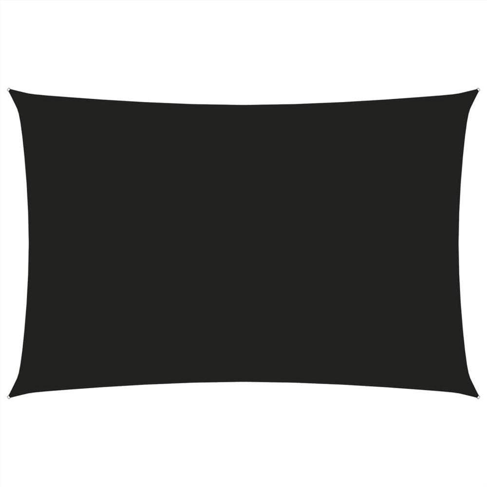 Parasol Voile Oxford Tissu Rectangulaire 2x4.5 m Noir