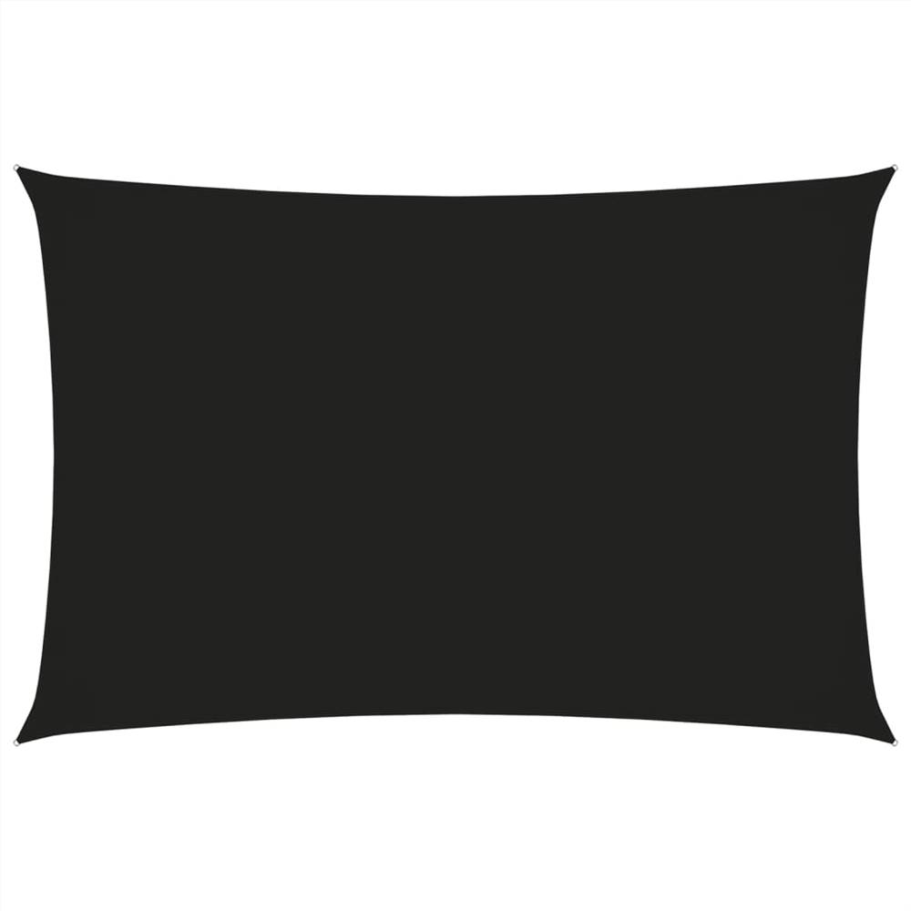Parasol Voile Oxford Tissu Rectangulaire 3x5 m Noir