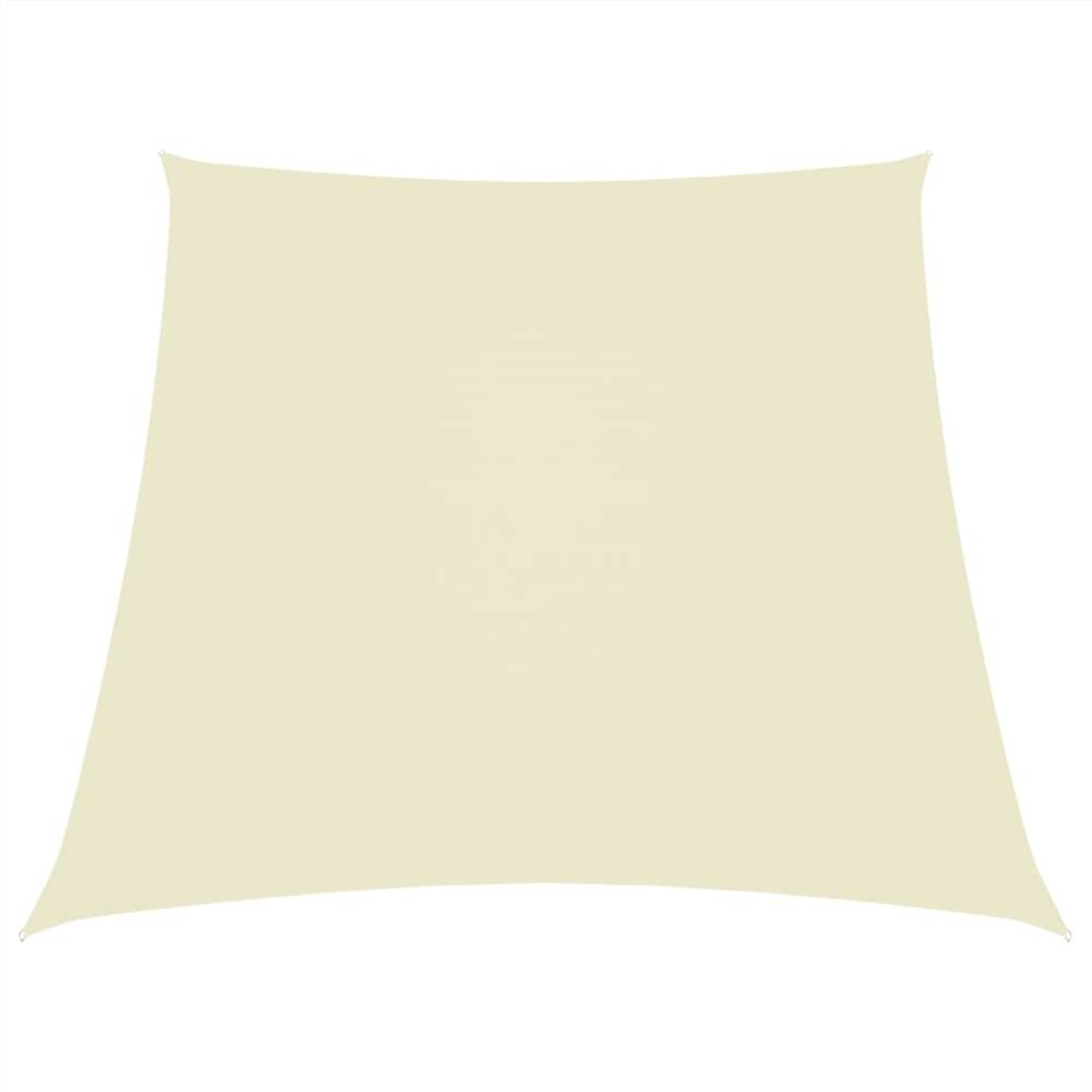 Sunshade Sail Oxford Fabric Trapezium 3/4x2 m Cream