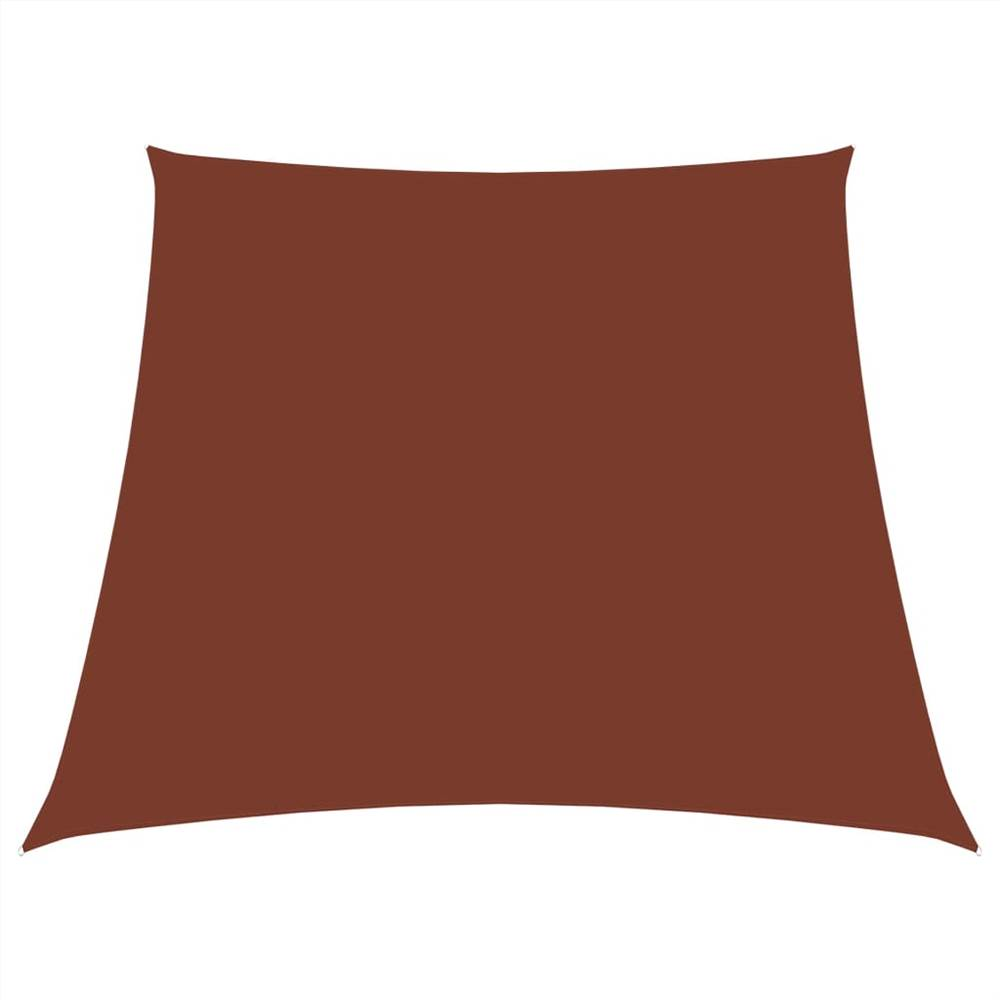 Sunshade Sail Oxford Fabric Trapezium 3/4x2 m Terracotta