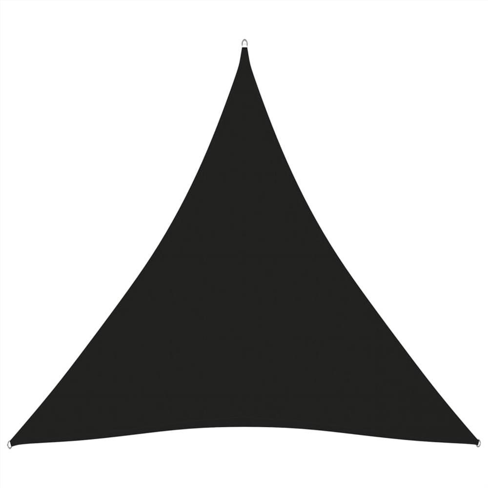 Parasol Voile Oxford Tissu Triangulaire 3.6x3.6x3.6 m Noir