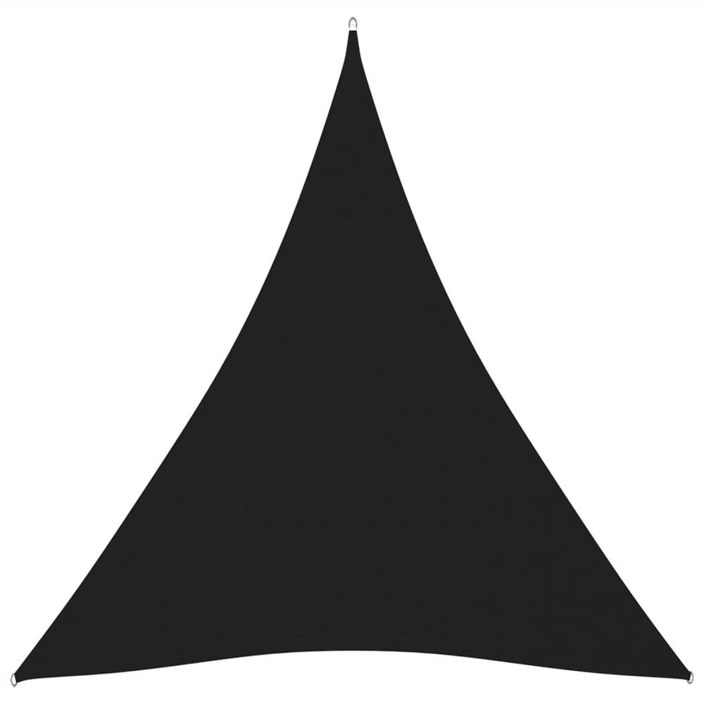 Parasol Voile Oxford Tissu Triangulaire 3x4x4 m Noir