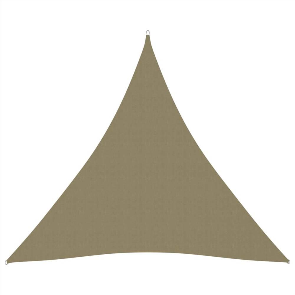 Sunshade Sail Oxford Fabric Triangular 4x4x4 m Beige