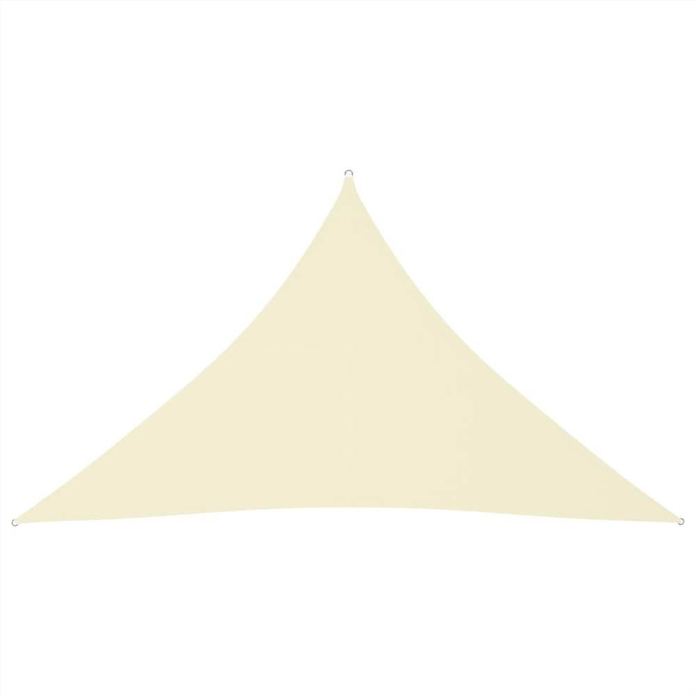 Sunshade Sail Oxford Fabric Triangular 4x4x5.8 m Cream