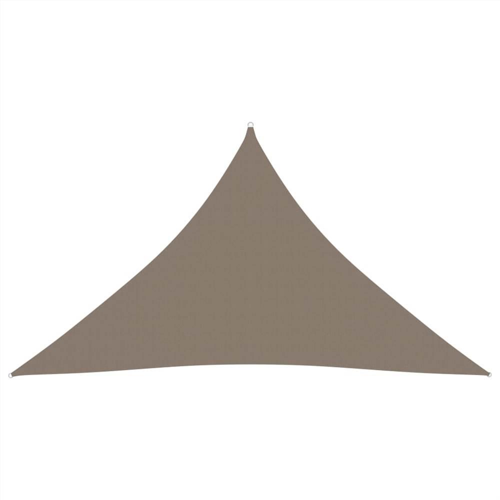 Sunshade Sail Oxford Fabric Triangular 5x5x6 m Taupe
