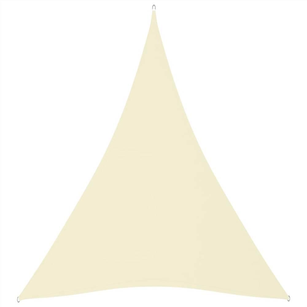 Sunshade Sail Oxford Fabric Triangular 5x7x7 m Cream