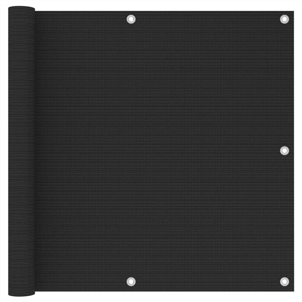 Balkonschirm Schwarz 90x300 cm HDPE
