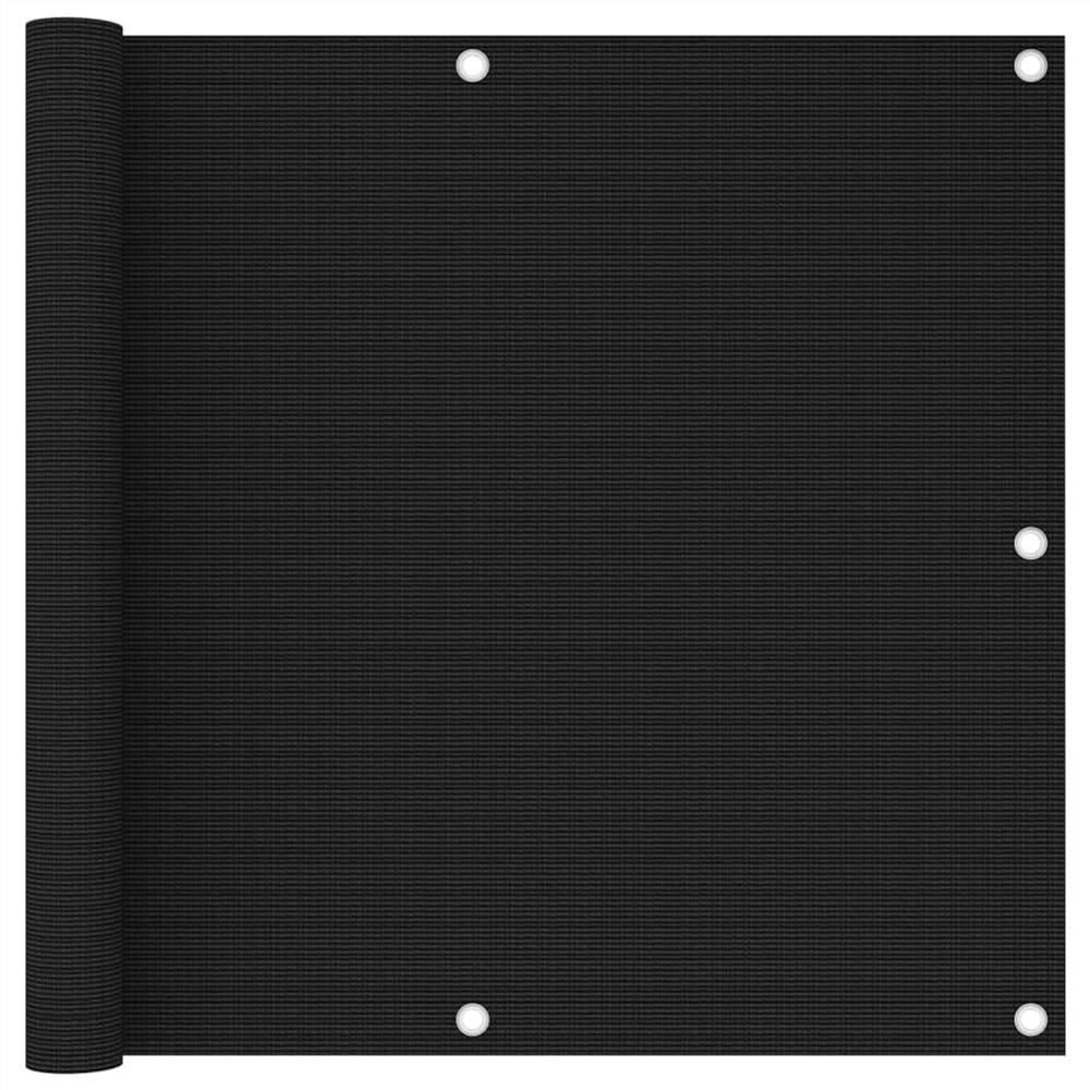 Balcony Screen Black 90x400 cm HDPE