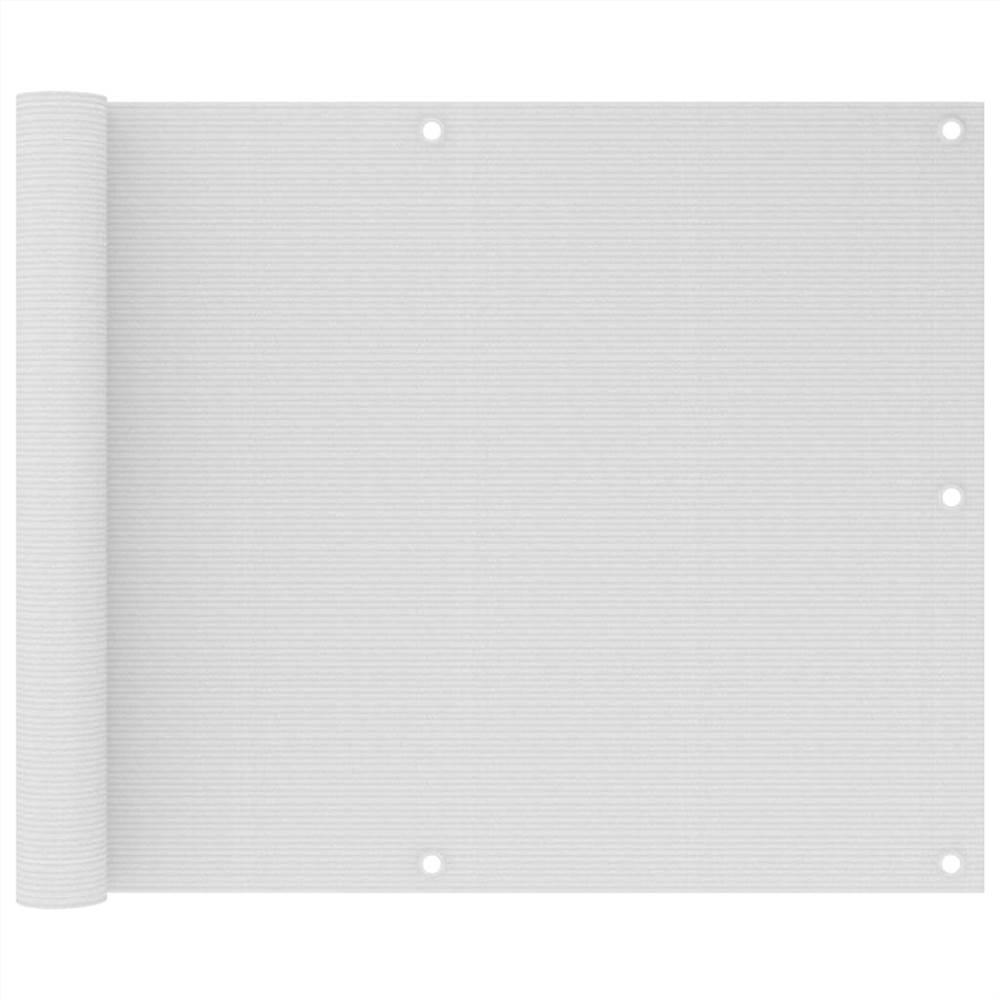 Balcony Screen White 75x300 cm HDPE