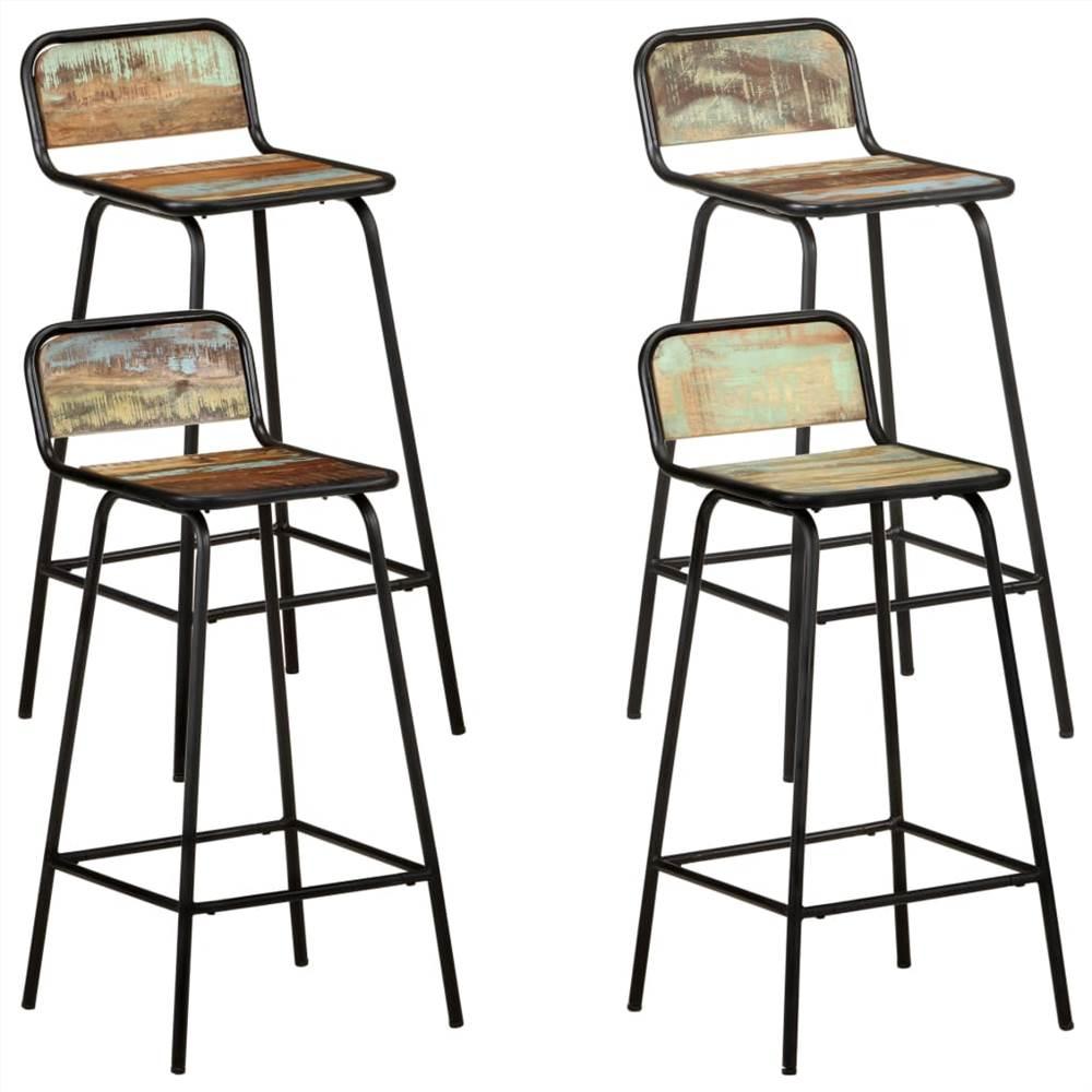 Barstühle 4 Stück Massives Altholz