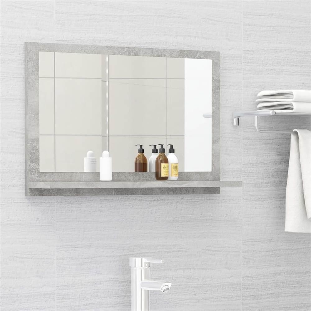 Bathroom Mirror Concrete Grey 60x10.5x37 cm Chipboard