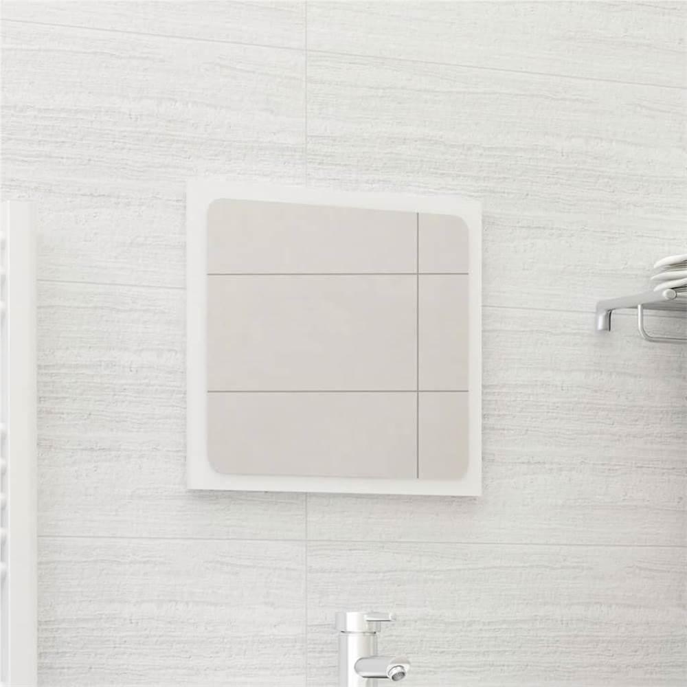 Bathroom Mirror High Gloss White 40x1.5x37 cm Chipboard