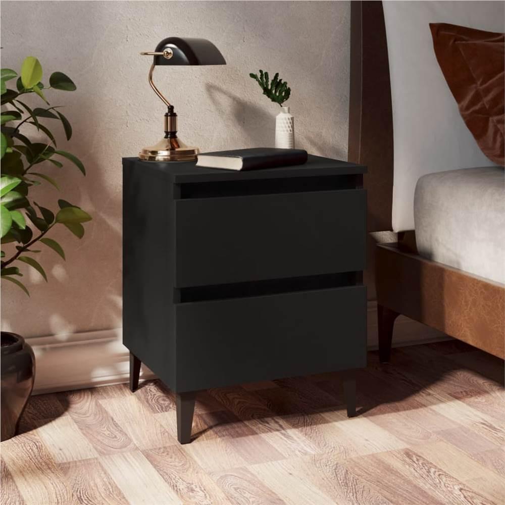 Armoire Lit Noir 40x35x50 cm Aggloméré
