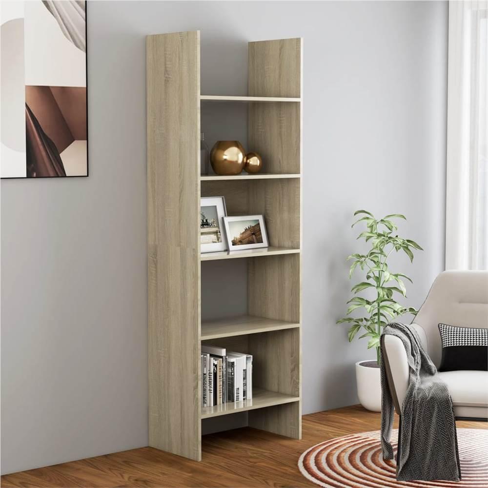 Book Cabinet Sonoma Oak 60x35x180 cm Chipboard