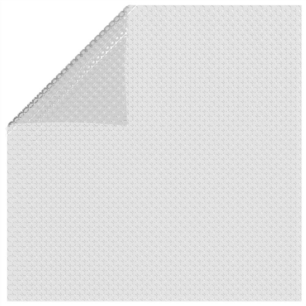 Floating PE Solar Pool Film 732x366 cm Grey