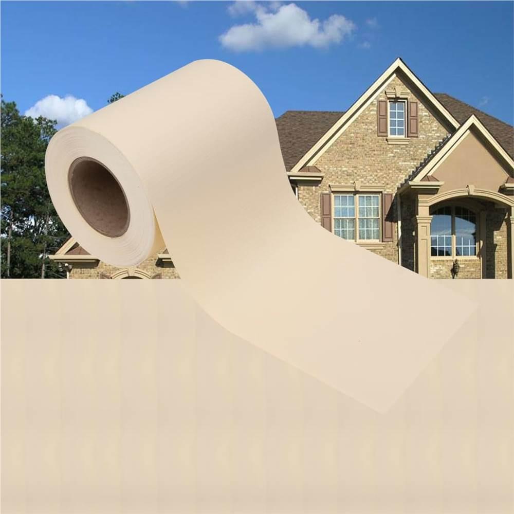 Garten-Sichtschutz 4 Stück PVC 35x0,19 m Creme