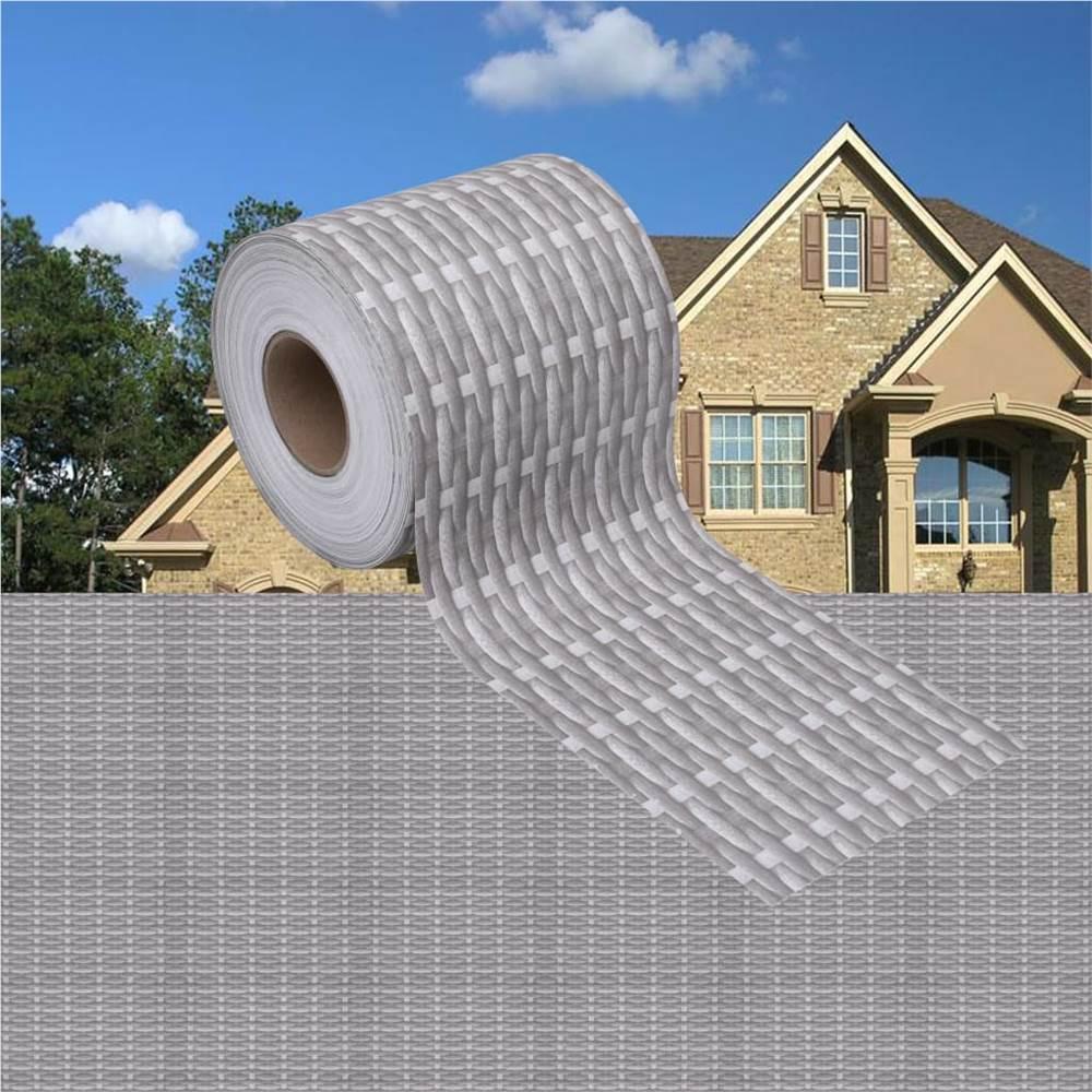 Garden Privacy Screens 4 pcs PVC 35x0.19 m Rattan Grey