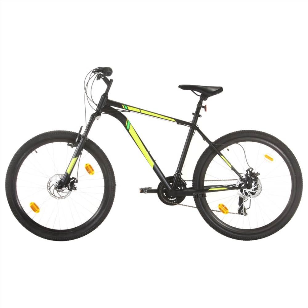 Mountain Bike 21 Speed 27.5 inch Wheel 50 cm Black