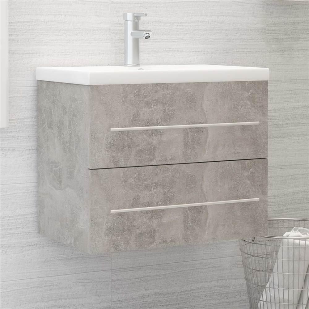 Sink Cabinet Concrete Grey 60x38.5x48 cm Chipboard