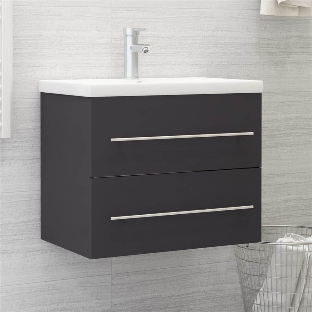 Sink Cabinet Grey 60x38.5x48 cm Chipboard