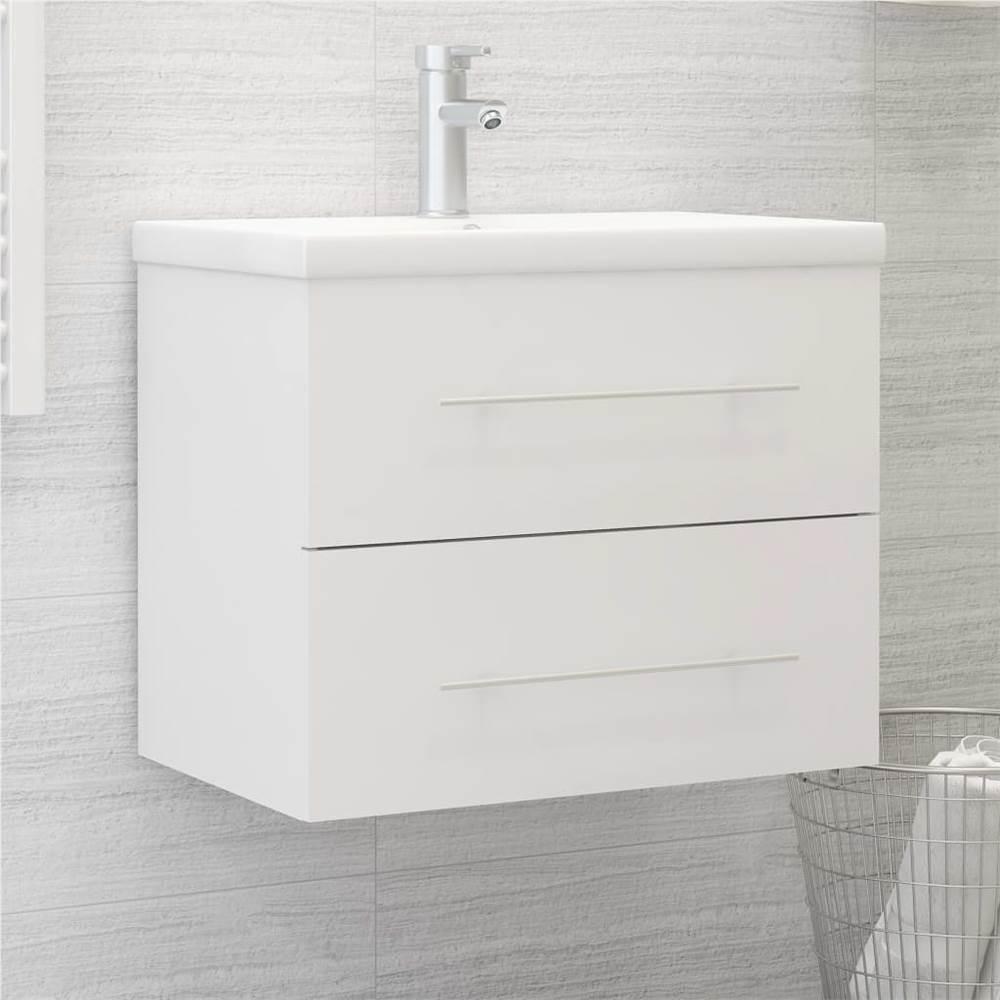 Sink Cabinet White 60x38.5x48 cm Chipboard