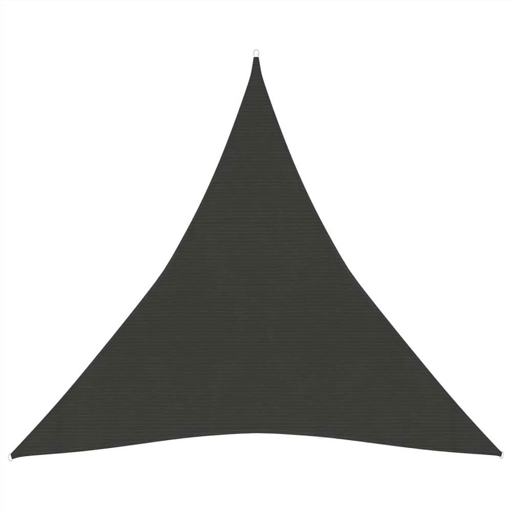 Sunshade Sail 160 g/m² Anthracite 4x4x4 m HDPE