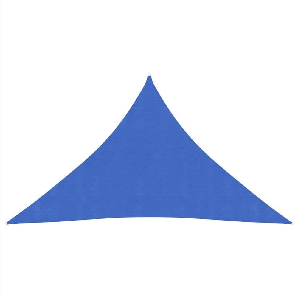Sunshade Sail 160 g/m² Blue 2.5x2.5x3.5 m HDPE
