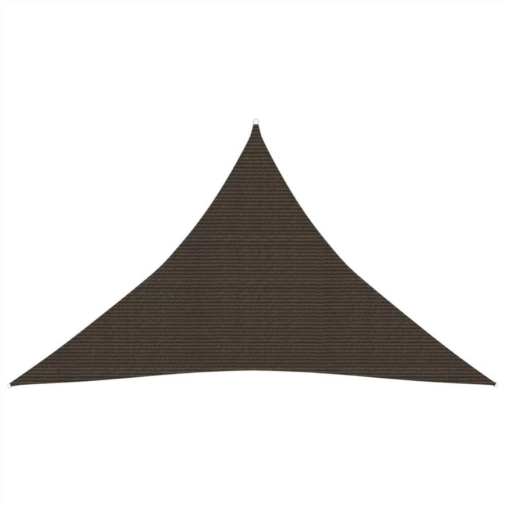 Sunshade Sail 160 g/m² Brown 3x3x4.2 m HDPE
