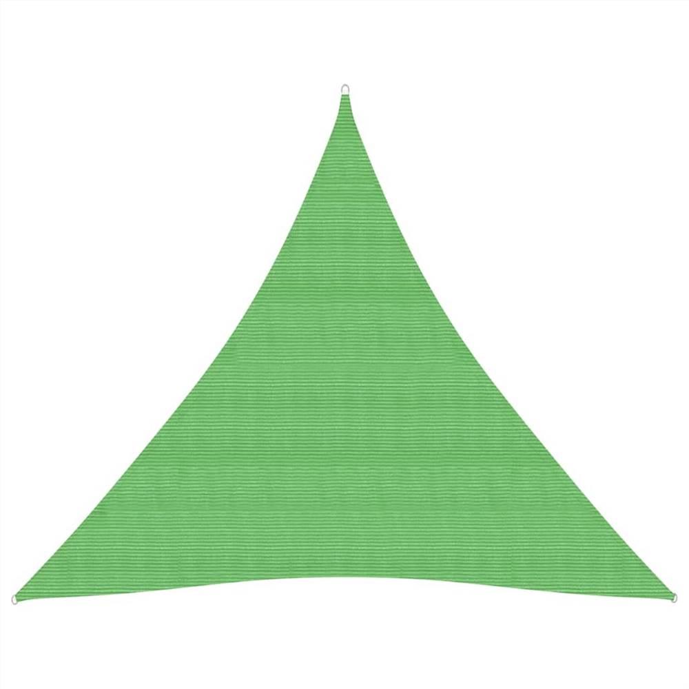 Parasol Voile 160 g/m² Vert Clair 3x3x3 m HDPE