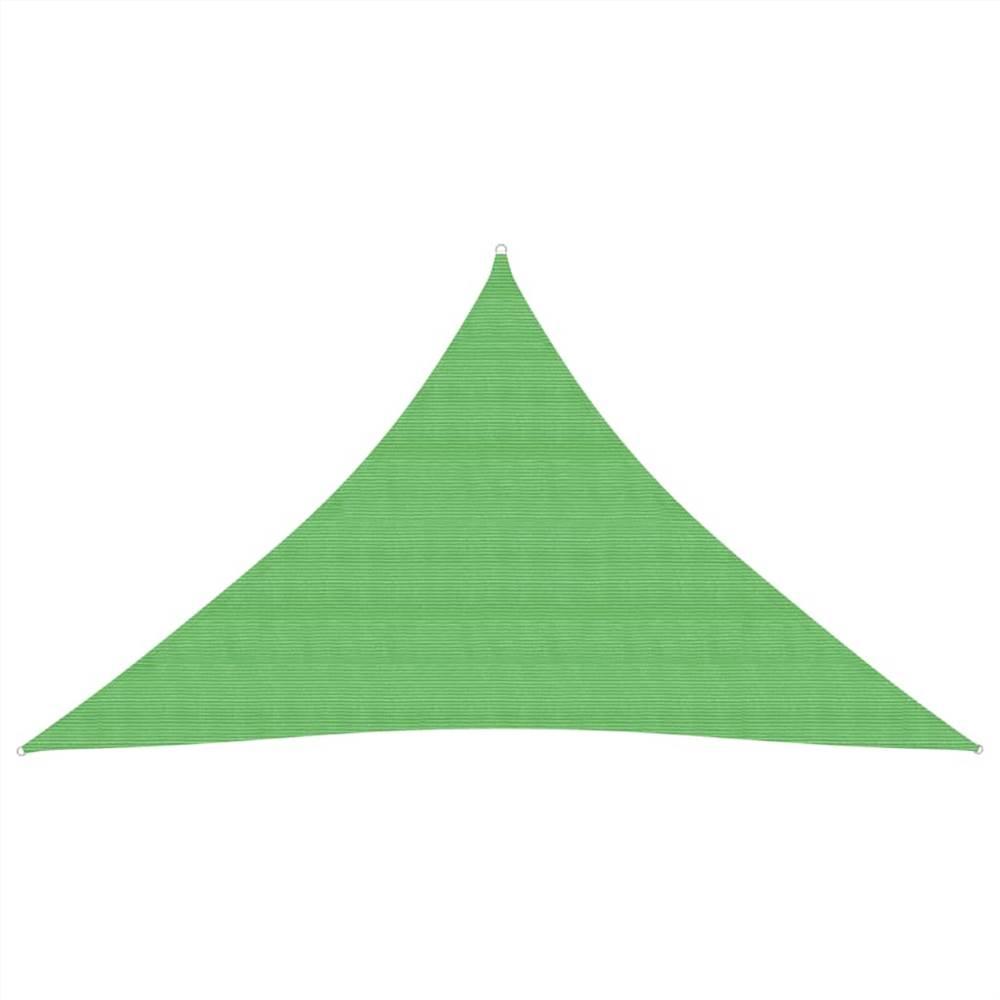 Voile de Parasol 160 g/m² Vert Clair 3x3x4,2 m HDPE