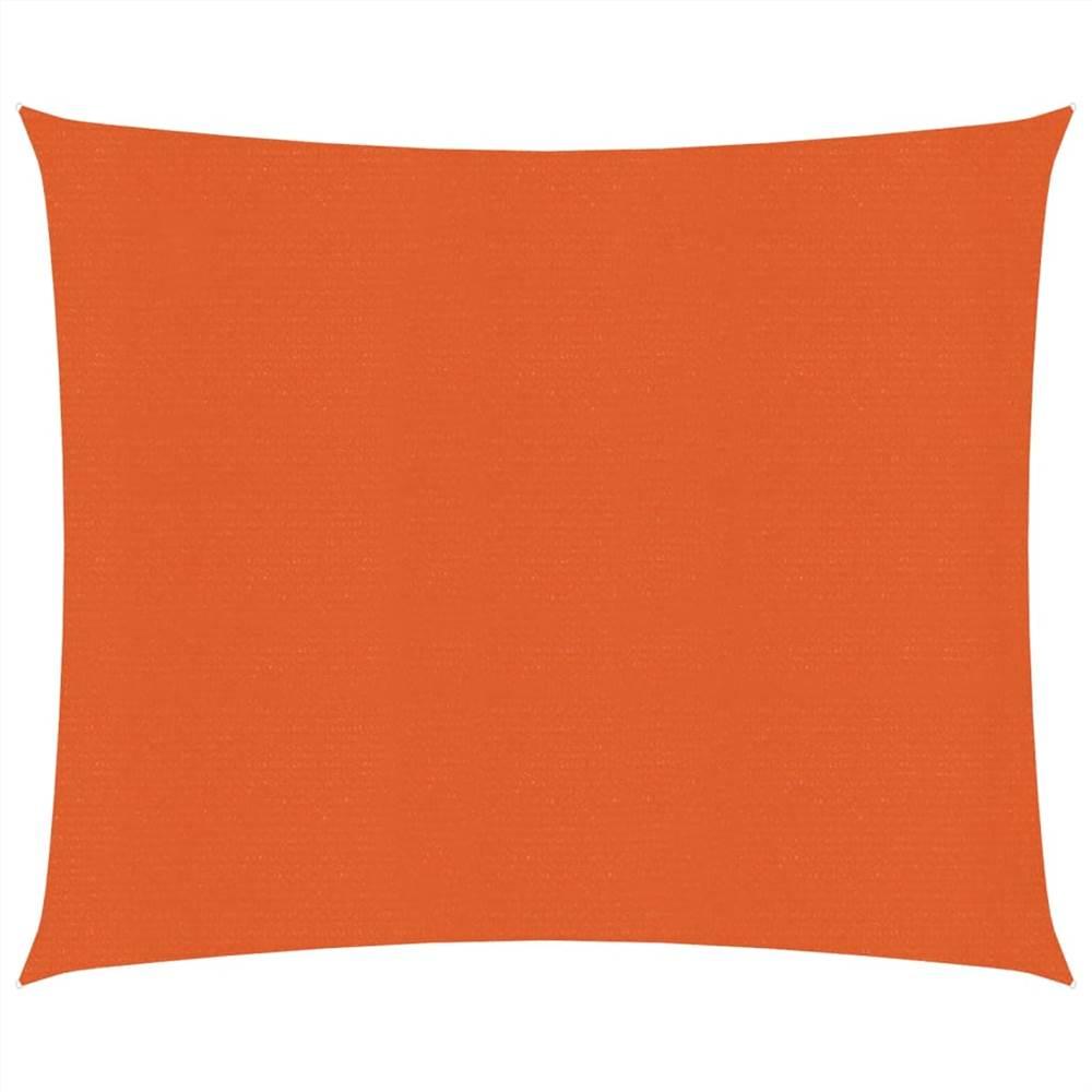 Sunshade Sail 160 g/m² Orange 3x3 m HDPE