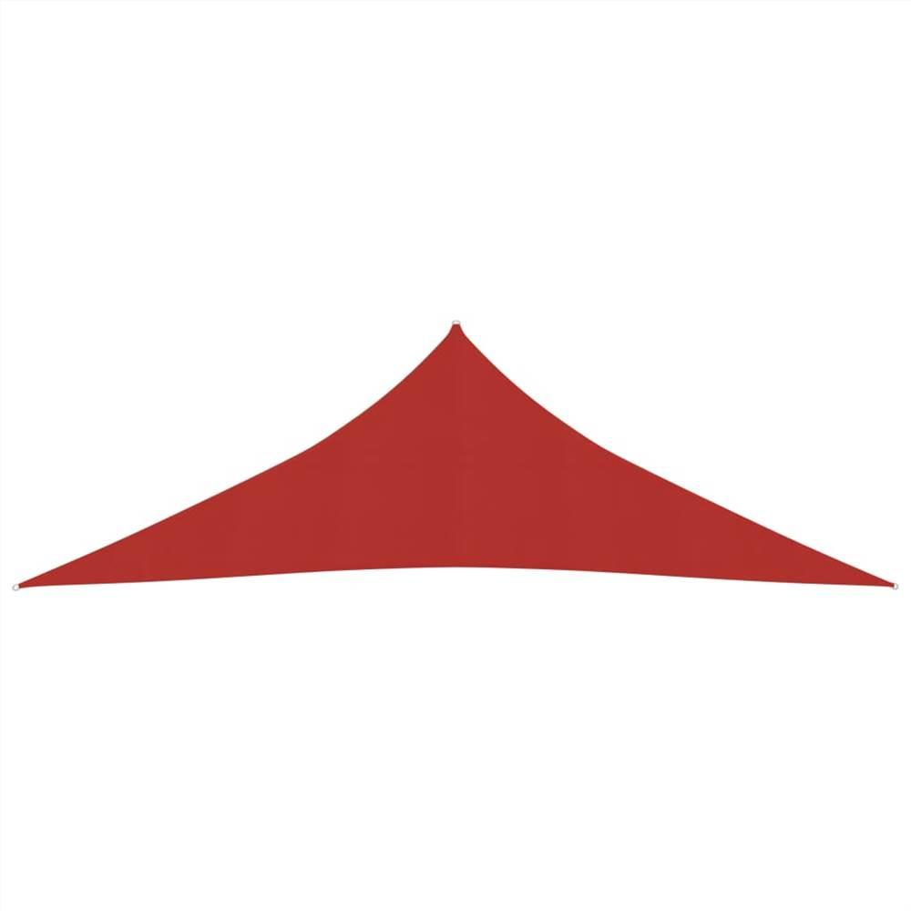 Sonnensegel 160 g/m² Rot 4x4x5,8 m HDPE