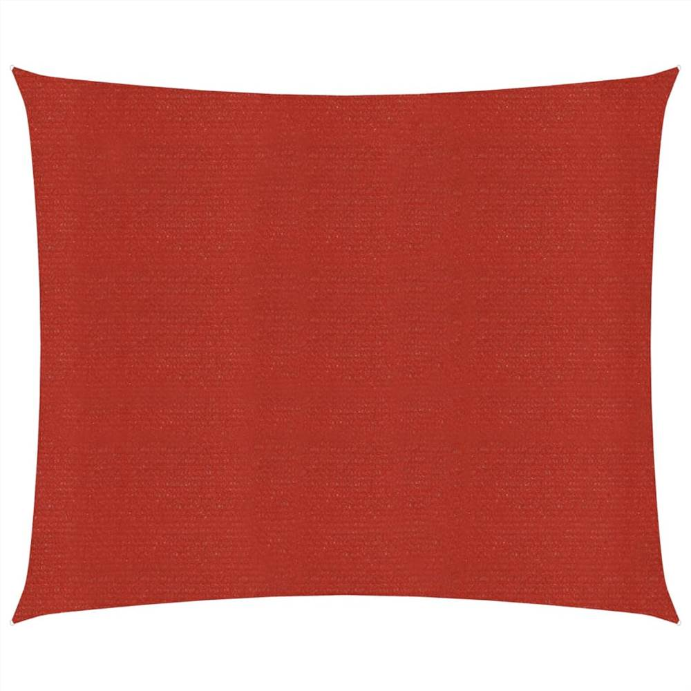 Sonnensegel 160 g/m² Rot 7x7 m HDPE