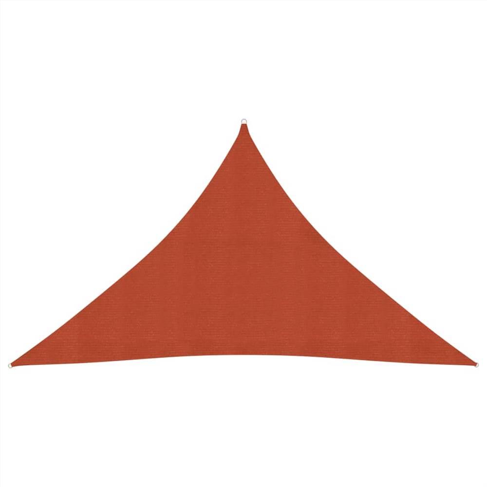 Sonnensegel 160 g/m² Terrakotta 3,5x3,5x4,9 m HDPE