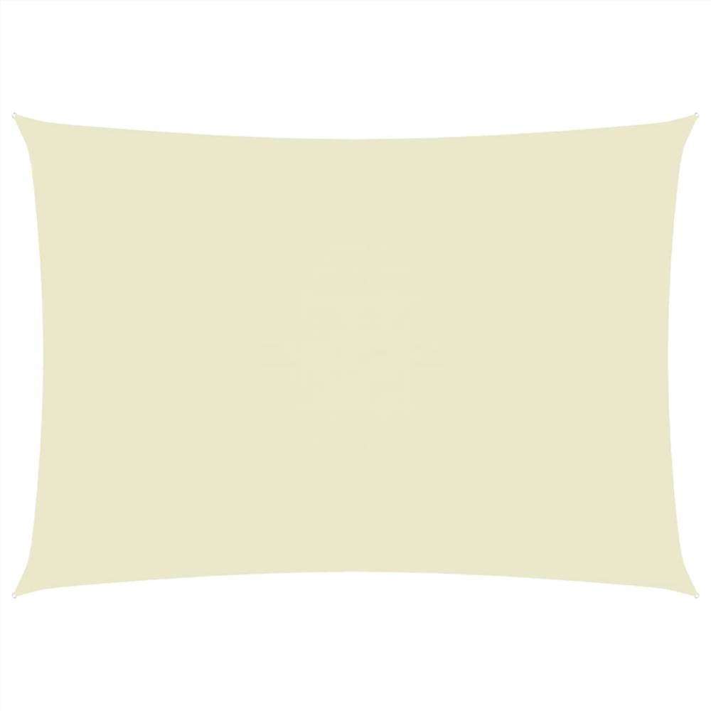 Sunshade Sail Oxford Fabric Rectangular 2.5x5 m Cream