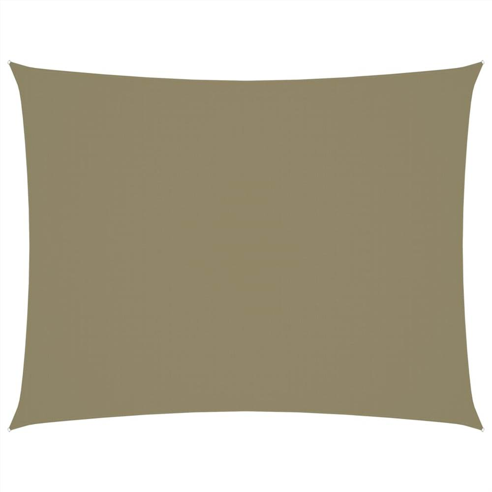 Sunshade Sail Oxford Fabric Rectangular 3x4 m Beige