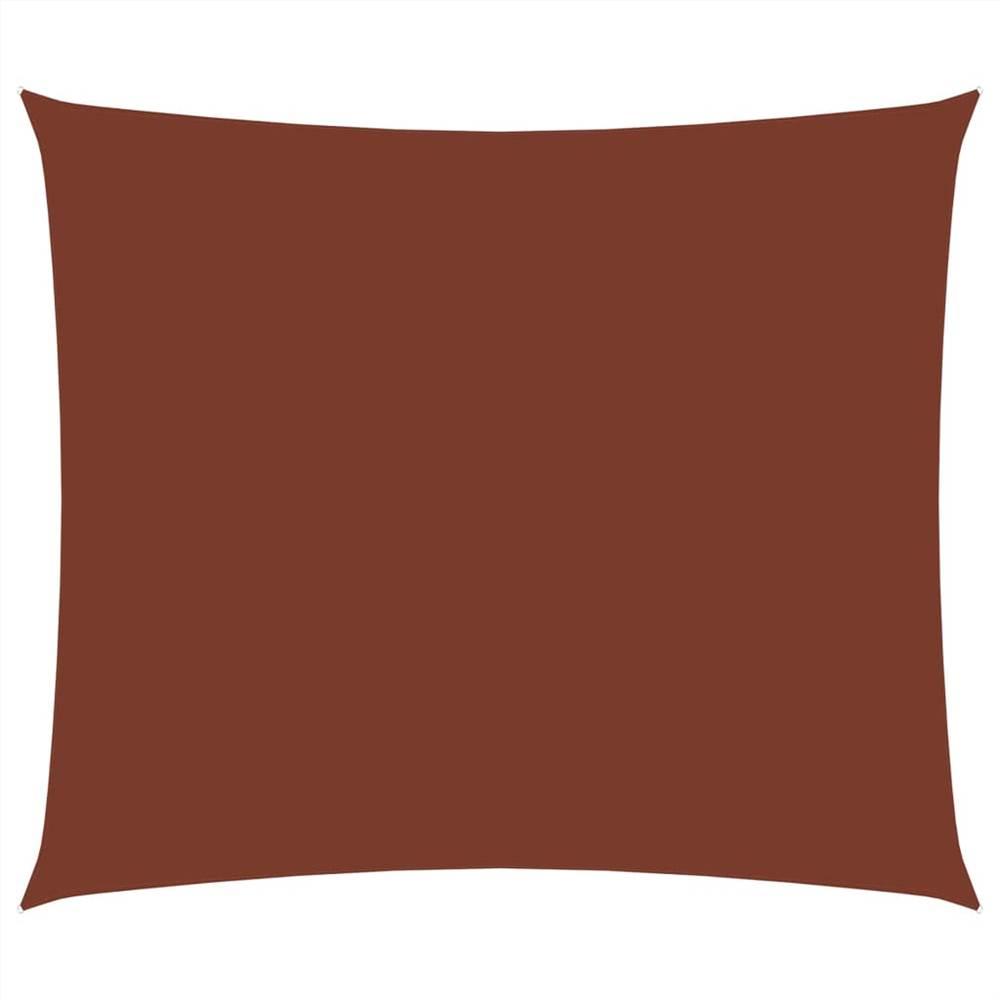 Sunshade Sail Oxford Fabric Rectangular 3x4 m Terracotta