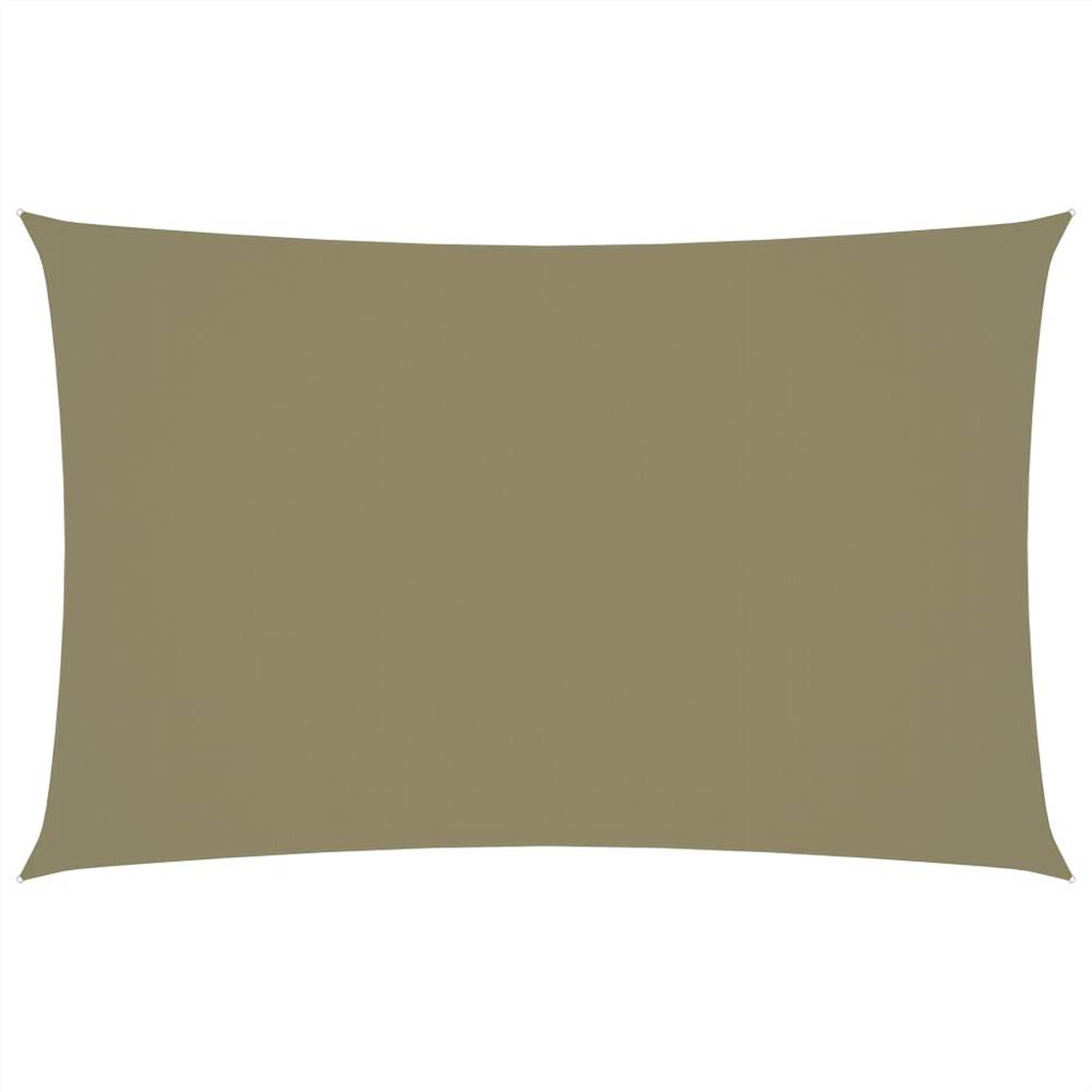 Sunshade Sail Oxford Fabric Rectangular 4x7 m Beige