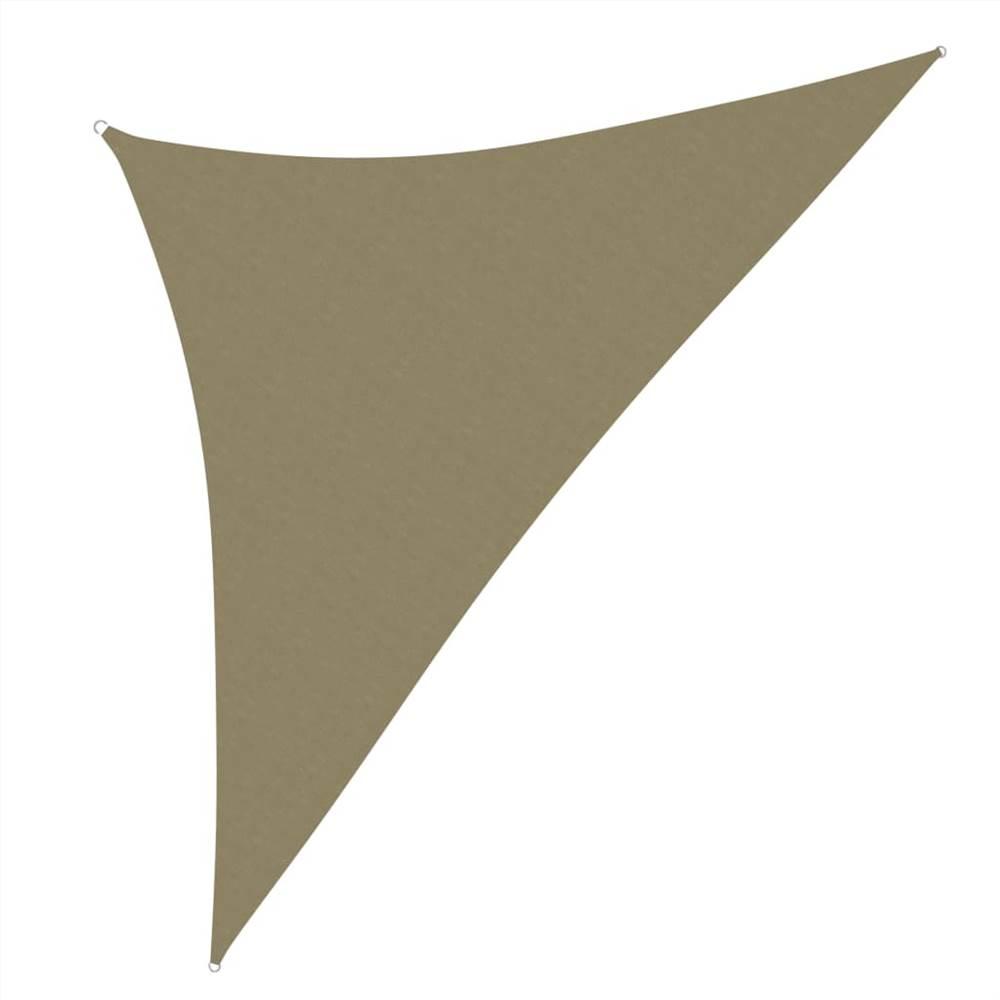 Sunshade Sail Oxford Fabric Triangular 3x3x4.24 m Beige
