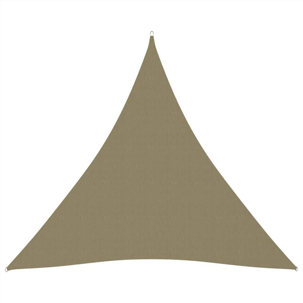 Sunshade Sail Oxford Fabric Triangular 4.5x4.5x4.5 m Beige