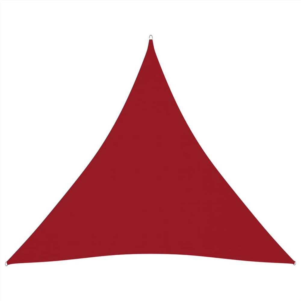Sunshade Sail Oxford Fabric Triangular 4x4x4 m Red