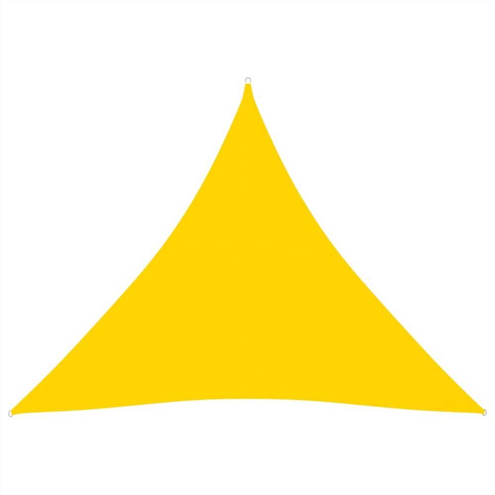 Sunshade Sail Oxford Fabric Triangular 5x5x5 m Yellow