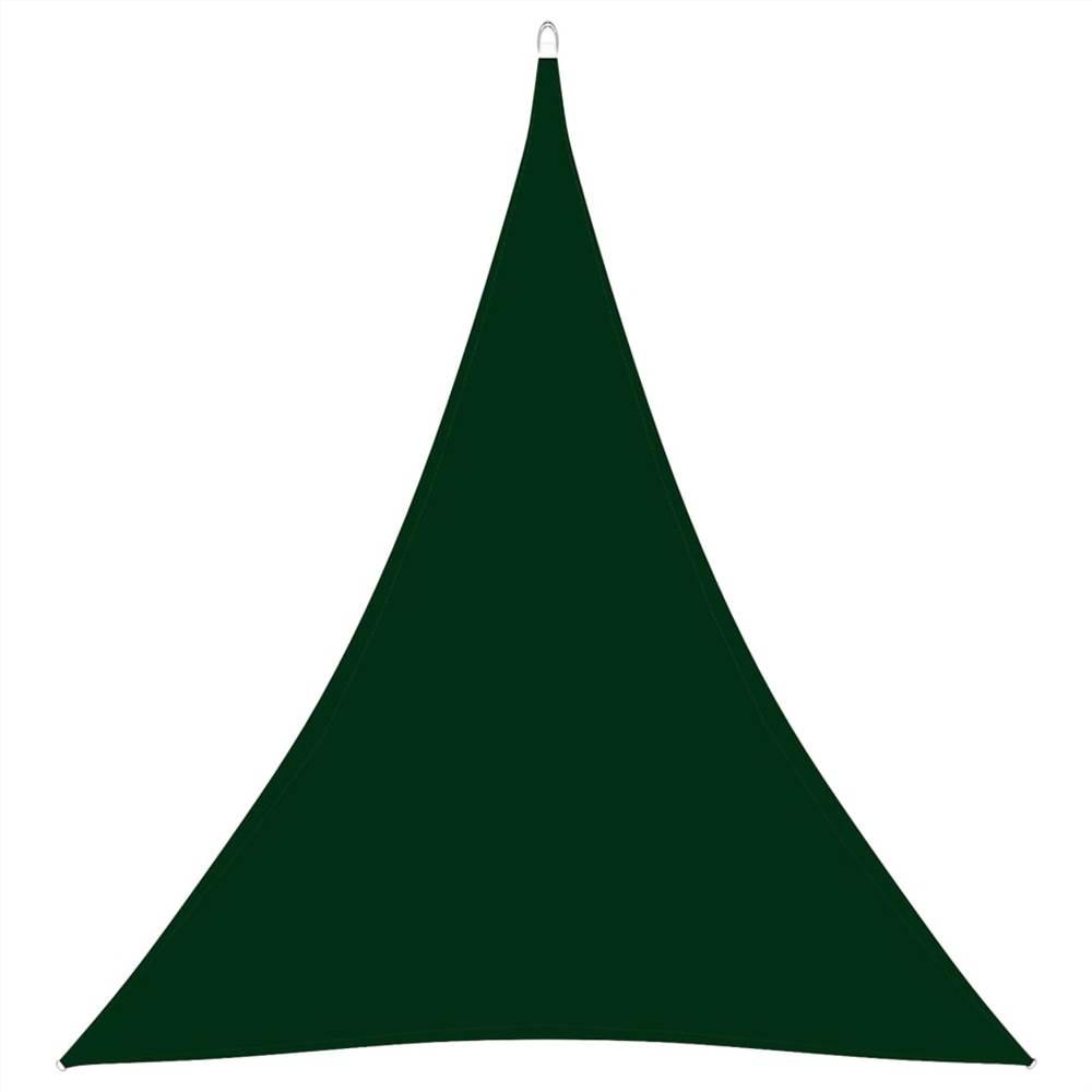 Sunshade Sail Oxford Fabric Triangular 5x6x6 m Dark Green