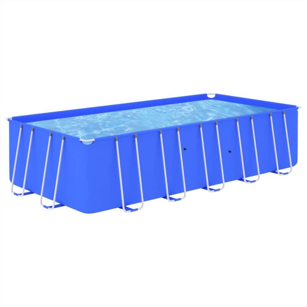 Schwimmbad mit Stahlrahmen 540x270x122 cm Blau