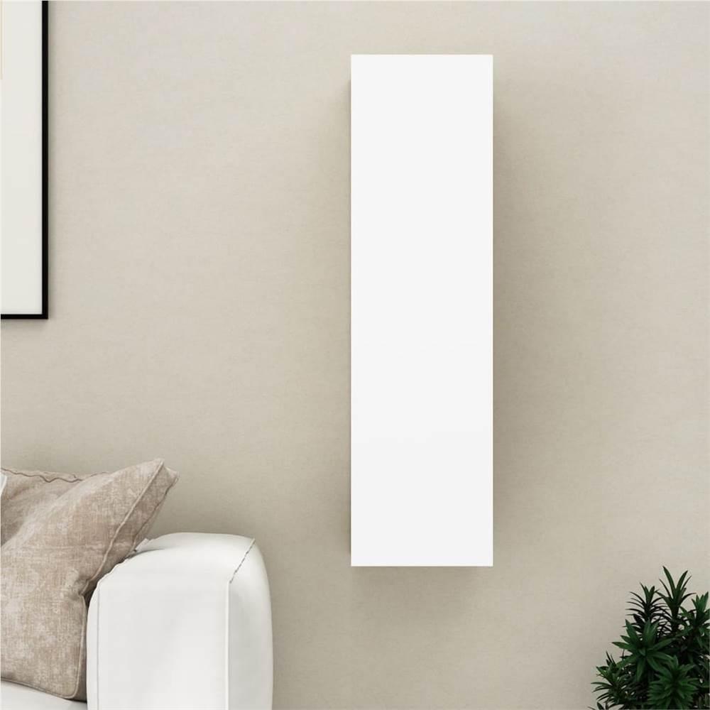 TV-Schrank Weiß 30,5x30x110 cm Spanplatte