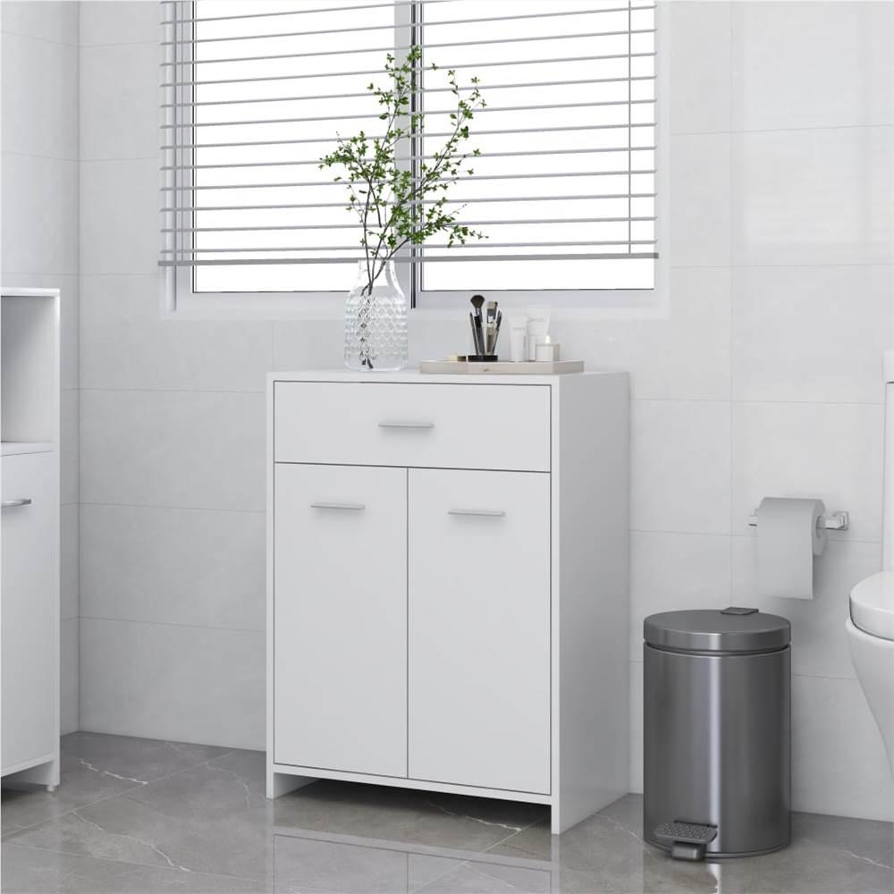 Bathroom Cabinet White 60x33x80 cm Chipboard