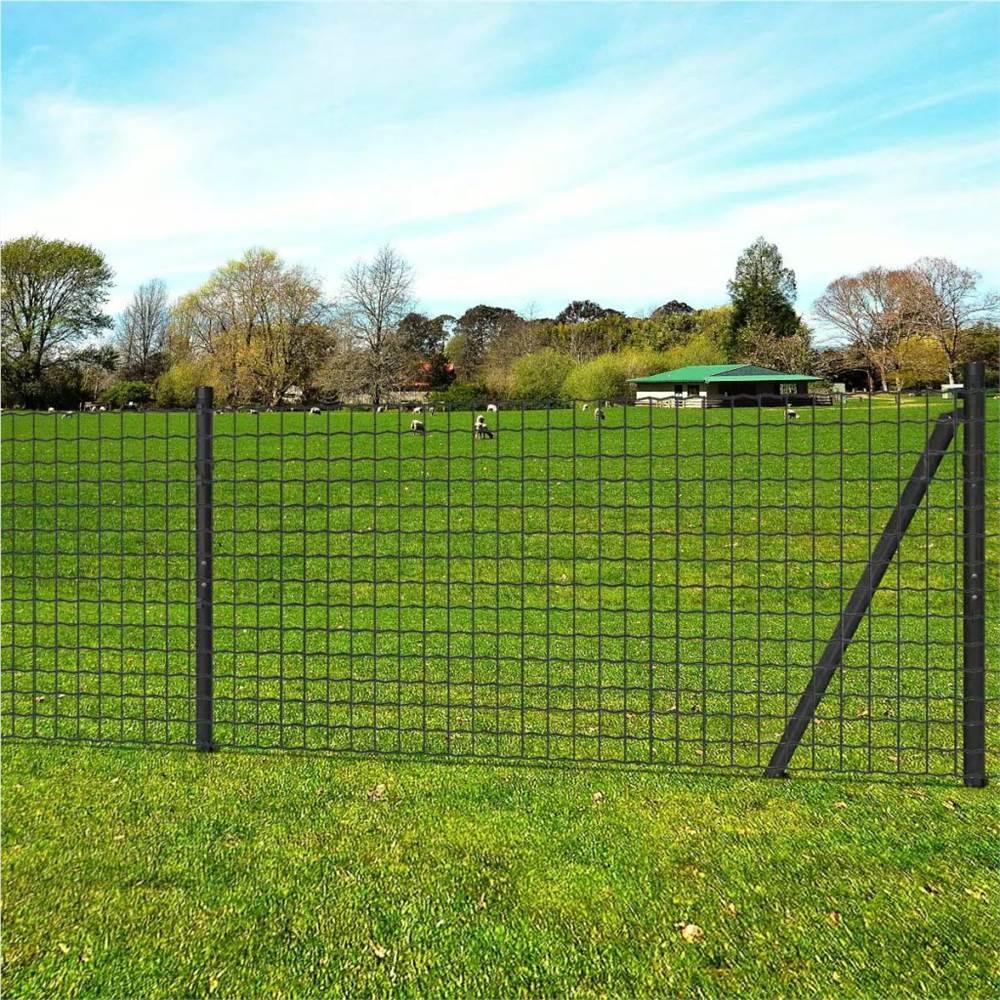 Euro Fence Steel 10x1 m Grey