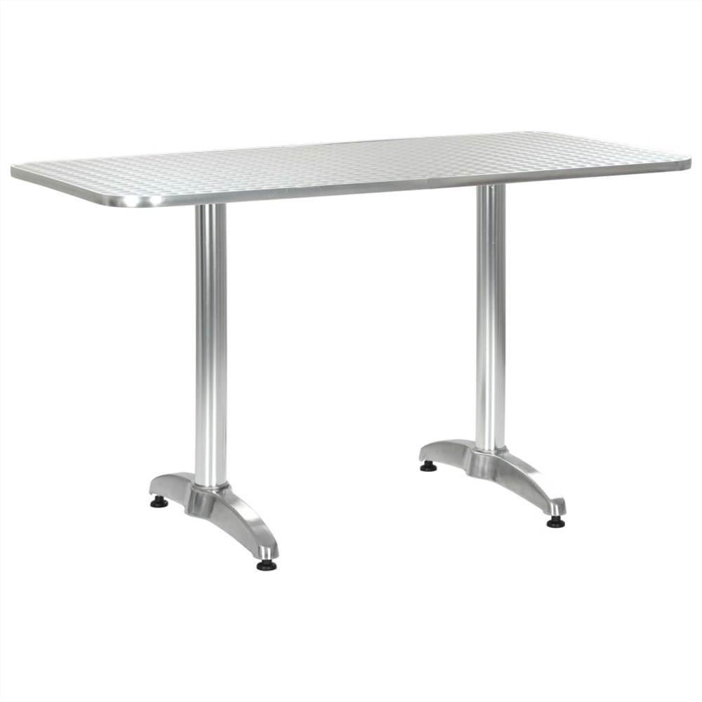 Garden Table Silver 120x60x70 cm Aluminium