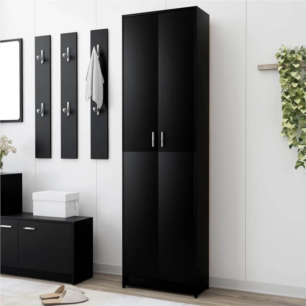 Hallway Wardrobe Black 55x25x189 cm Chipboard