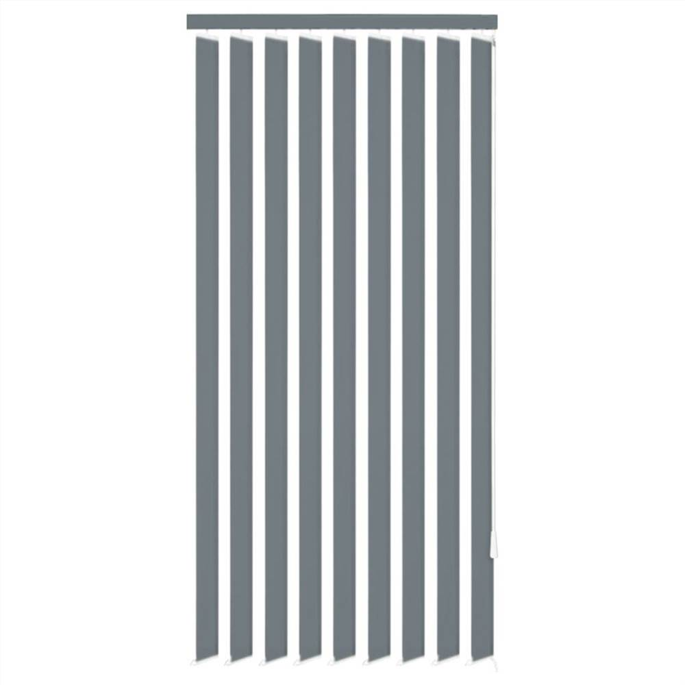 Vertical Blinds Grey Fabric 120x250 cm